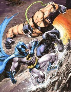 Original Comic Art titled Batman vs Bane by Cinar, located in John's Misc. Batgirl, Catwoman, Nightwing, Comic Book Artists, Comic Book Characters, Comic Character, Comic Books Art, Comic Art, Batman Vs