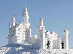 Snow castle.