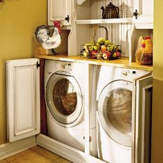 A Laundry Surprise - great way to hide the washer and dryer