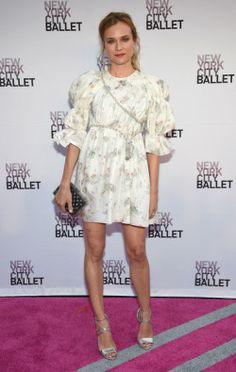 Diane Kruger wears Giambattista Valli Fall 2016 Couture to the New York City Ballet Fall Gala.