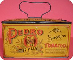 Pedro Cut Plug Smoking Tobacco lunch box tin