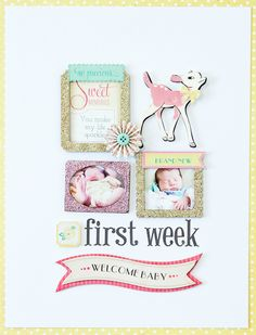 Beautifully simple layout created using our Little Bo Peep Collection from Crate Paper