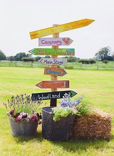 - 10 Essential and Inspiring Ideas for a Festival Style Wedding Planning a festival wedding? We have put together some fun festival wedding essentials and inspiring ideas to help you plan the perfect festival style shindig! Tipi Wedding, Wedding Signage, Wedding Themes, Wedding Events, Rustic Wedding, Dream Wedding, Wedding Decorations, Wedding Ideas, Wedding Inspiration