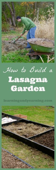 For the past 8 years we've taken our garden from good to great with a style of gardening that has been labeled lasagna gardening. Also known as sheet composting, a lasagna garden is built by layering organic materials which eventually will decompose into wonderful garden soil.: