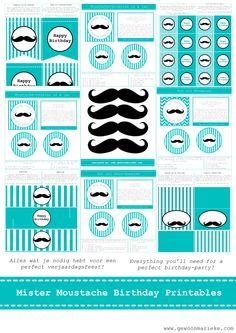 free Moustache Party Printables