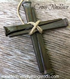 Beautiful Cross made from nails! What a cool craft for Easter, Faith, or just for everyday!