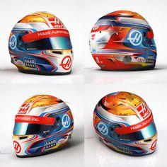 Romain Grosjean's 2016 Helmet