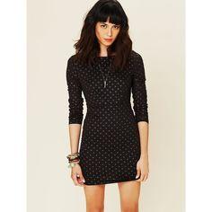 Free People Moonshine Long Sleeve Dress ($100) via Polyvore