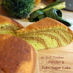 A delicious combination of pandan and palm sugar flavours in a cake baked in an IH rice cooker. I reduced the oil quantity from 50g to 30g...