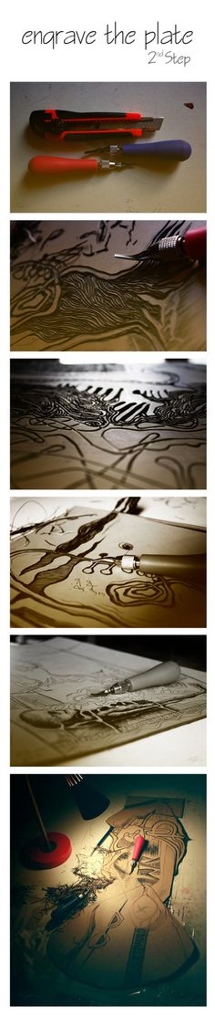 Backstage of Printmaking by Esraa Ennajjar, via Behance