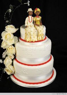 Beautiful & Colorful Nigerian Traditional Engagement Wedding Cake Ideas | Nigerian Wedding