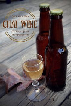 Spiced Chai Wine from pixiespocket: oh, man. I really like this stuff! Want to make your own batch of Chai Wine? Homemade Wine Recipes, Homemade Alcohol, Homemade Liquor, Brewing Recipes, Beer Recipes, Alcohol Recipes, Easy Beer Recipe, Tea Wine Recipe, Drink Recipes