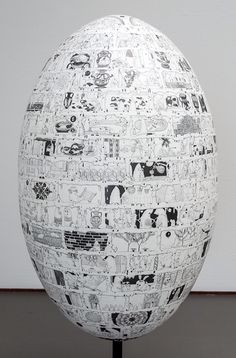 Paul Noble | applied egg 2014--great idea to have students collage an object to understand form