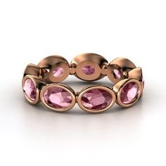 Cloud Nine Ring,   14K  Rose Gold Ring  with Rhodolite Garnet