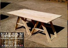Collapsable Trestle tables now available to order. Perfect for indoor and outdoor use. If it's made from wood, we'll build it. To place your order, or for more info, contact us on 0834376919 (whatsapp) or naileditpallets@gmail.com. #patiofurniture #trestletable #collapsabletrestletable #outdoorfurniture  #custompalletwoodfurnituredurban #palletfurniture #palletfurnituredurban #naileditpalletwoodfurniture #nailedpalletfurnituredurban