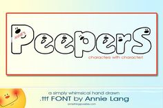 Annie's Peepers Font by Annie Things Possible on @Graphicsauthor