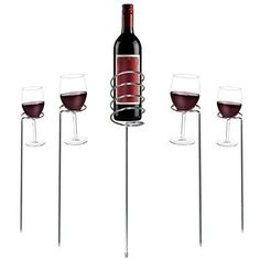 Esterno-Picnic-Giardino-Camping-Bicchiere Vino- Supporto Bottiglia-Set-Acciaio INOX-Scaffali Vino- Accessorio- Per- Vita All'Aperto- Conservazione Vino. UsareCon- Oggetti Di Vetro-Bicchieri da Vino in Plastica-Bicchiere Vino Attraenti-Bicchieri Vino Scintillanti. Bicchiere Vino-Contenitore Vino-Accessori Vino- Set- Per Completare Il Tuo-Armadietto Liquori. EURO 38,50