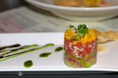 Yellowfin Tuna Tartare with avocado, mango, radish, & wasabi
