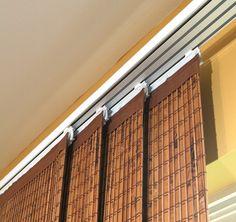 Natural Élance Sliding Panels - Horizons Window Fashions