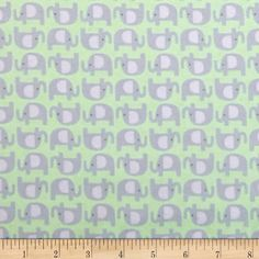 Kaufman Wild Bunch Flannel Elephants Nature from @fabricdotcom  Designed by…