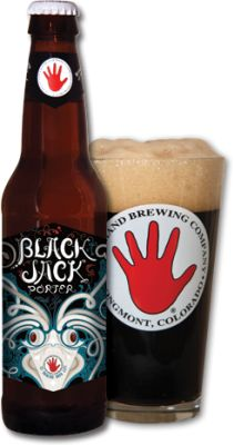 Black Jack Porter by Left Hand pours black with a quickly dispersing 1 finger head. A very nice roasted malt aroma with a slight hint of coffee. The taste was quite surprising, and better than I expected from an English Porter. No bitterness or bad after taste. It was a little light in body than what I'm used to, but overall a very good beer. 4 stars out of 5