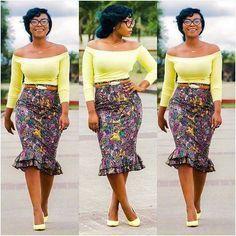 Double peplum skirt ~African fashion, Ankara, kitenge, African women dresses, African prints, African men's fashion, Nigerian style, Ghanaian fashion ~DKK