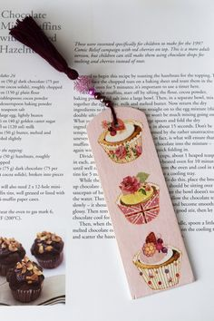 Wooden Bookmark Cupcake motif Bookmark Decoupage by Leafbirdcrafts Cherry On Top, Handmade Wooden, Book Lovers, Decoupage, Cupcake, Birthday Gifts, Christmas Gifts, Treats, Etsy