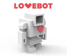The DIY Lovebot is a 5 inch customizable designer art toy that allows you to express your creativity in a completely unique format. Made by Mindzai