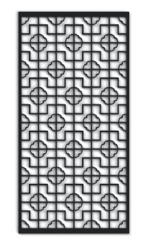 60-843 Chinese R8 Fretwork MDF Screen
