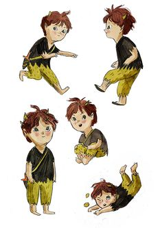 Peter Pan - Ella Bailey Illustration Japanese Illustration, Children's Book Illustration, Character Illustration, Book Illustrations, Character Poses, Character Development, Character Art, Jm Barrie, Figure Sketching
