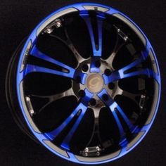 blue and black rims