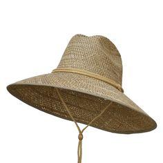 Man's Lifeguard Safari Straw Hat - Natural OSFM