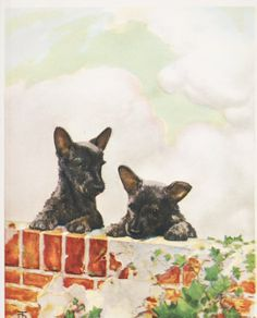 Dog Print Alsatian Hot Day by Irina Garmashova