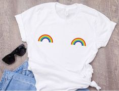 Gay Pride Set: Rainbow Braces Brighton etc. LGBT Unisex Party Set Tie /& Laces