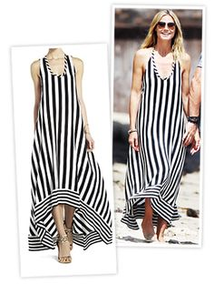 Heidi Klum Striped Dress BCBGMAXAZRIA