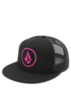Pink trucker hat Volcom brand (surf go-to brand) Skater Girls 342cdd986a1
