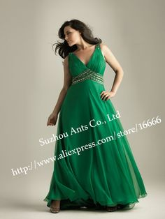 Plus Size Evening Wear   Evening Gowns Plus Size Picture - More Detailed Picture about V Neck ...