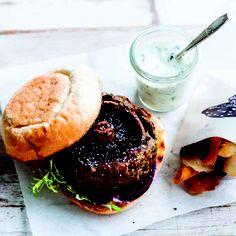 Mushroom lamb burger    #PowerofMushrooms #recipe