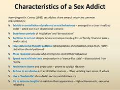 Characteristics of a sex addict