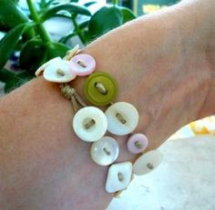 More Button Jewelry!
