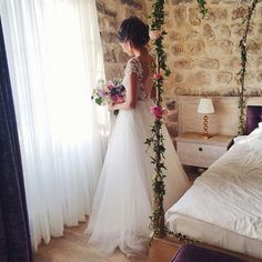 One of my favourites - Rhea Costa, dreaming of this beautiful bridal dress Beautiful Bridal Dresses, Wedding Dresses, Just Married, Dream Wedding, Gowns, Lace, Dress Ideas, Costa, Weddings