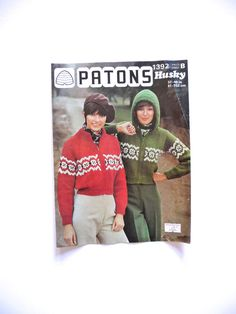 Patons 1392 Pattern Husky Knitting Pattern 1970s by TickleAndFinch