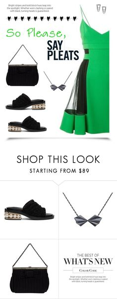 """""""Pleaty-please"""" by molly2222 ❤ liked on Polyvore featuring David Koma, Nicholas Kirkwood, Alice Barnes, Marc Jacobs and pleats"""
