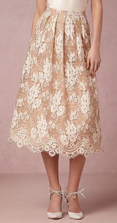gorgeous lace overlay skirt