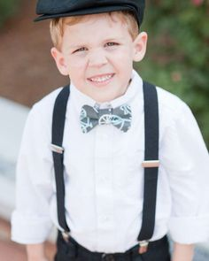 Cute ring bearer's outfit for the twins & T. Probably not the hat but love the bow tie and suspenders.