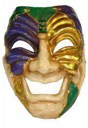 Mardi Gras Paper Mache Comedy Venetian Big Mask