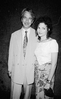 Alan Rickman and  Mary Elizabeth Mastrantonio at the Robin Hood: Prince of Thieves N.Y premiere [1991]