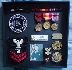 navy military shadow box