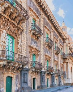 "i-traveltheworld: ""Triumph of baroque balconies in Catania, Sicily, Italy😍🤗🌍❤️ "" Let's go Catania Sicily, Sicily Italy, Italy Vacation, Italy Travel, Tourist Places, Places To Travel, Palermo, Cool Places To Visit, Places To Go"