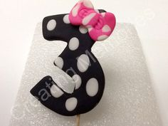 Fondant Cake Number Topper - FREE shipping wiht another Item. $4.50, via Etsy.